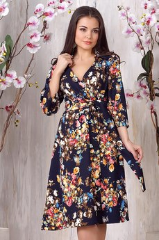 Платье с набивным рисунком Liora