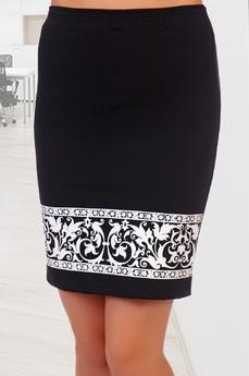 Черная юбка с узором Натали