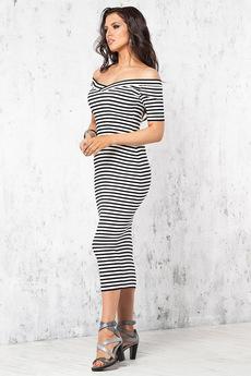 Нарядное платье в полоску Angela Ricci