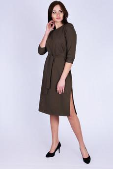 Платье оливкового цвета Красная Ветка